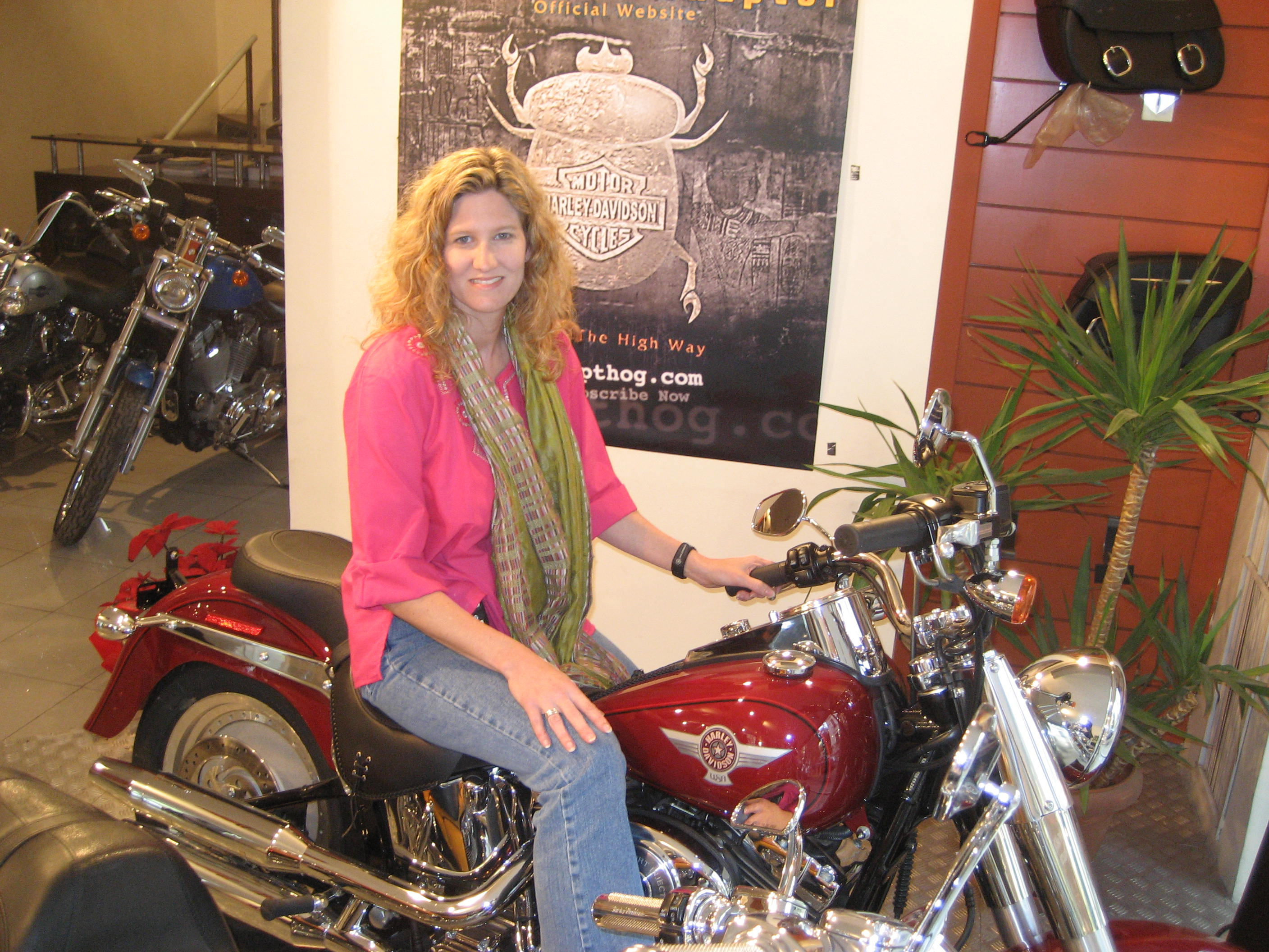 Me on a Harley in Cairo