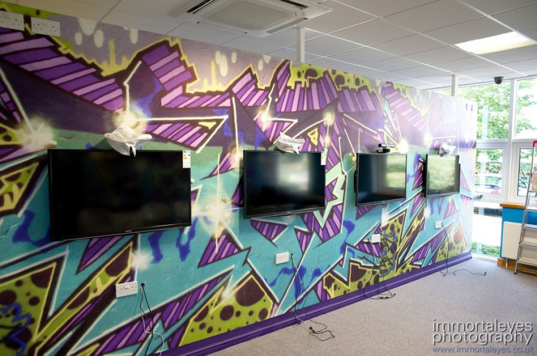 One of the two XBox Kinect rooms