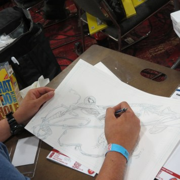 James Lee Stone Artist drawing Spiderman Commission