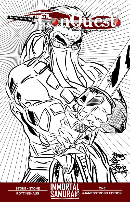 Conquest issue 1 Sketch Cover