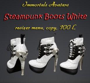Immortals Steampunk Boots White salespic