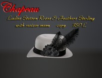 Ladies Stetson Roses & Feathers Sterling