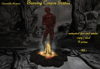 Burning Corpse Statue salespic