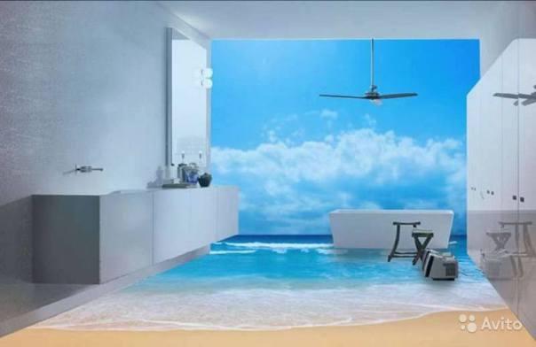 revêtement-sol-résine-aspect-3D-plage-bureau