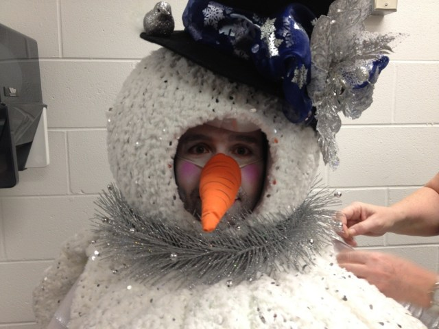 Snowman Costume Face Makeup