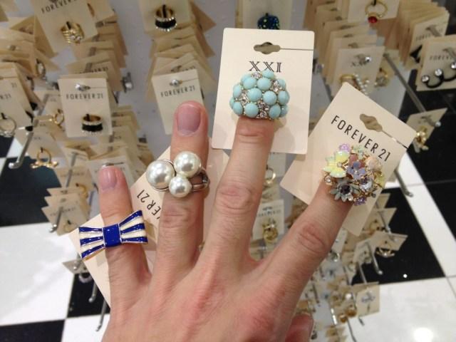 Rings from Forever 21