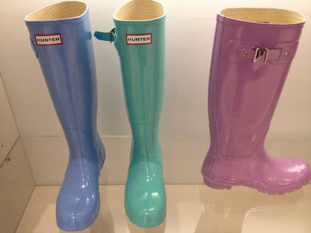 Pastel Hunter rain boots