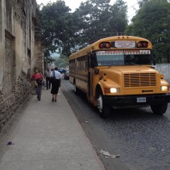 A common sight in Central America - the infamous 'chicken bus'