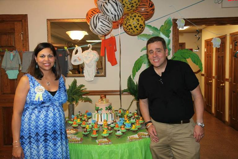 Esther and I during her Baby Shower