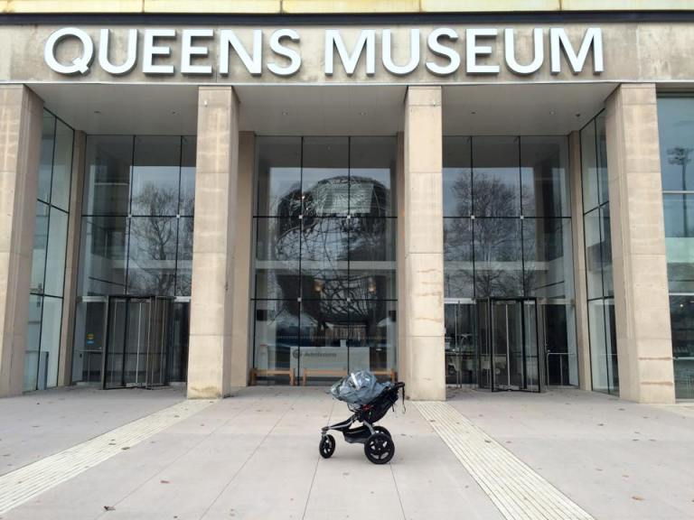 Cristian's first visit to a museum, when he's older, we will take him inside.