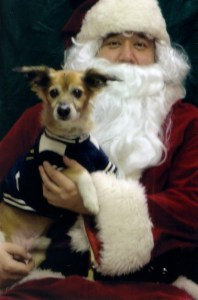 Chico with Santa