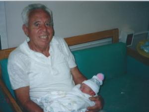 Dad with his first grandchild - Katie