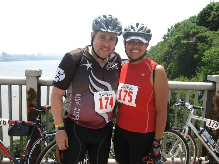 Esther and I pose for a picture during the Tour de Cure, a fund-raising event benefitting the American Diabetes Association