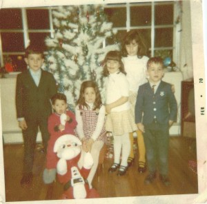 My parents were guilty too. Christmas Eve 1969. I'm the little guy on the right.