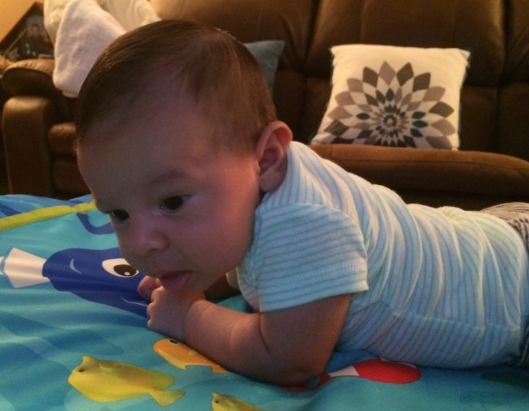Tummy Time - He hated Tummy Time.