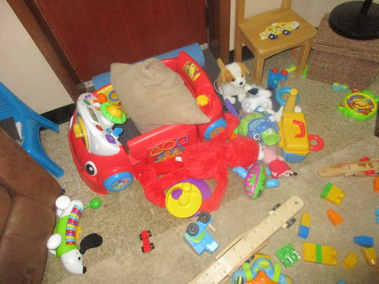 After - The baby wakes up. Imagine what the rest of the house looks like.