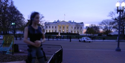 13 Jolie Approaches White House - Doomsday Sign