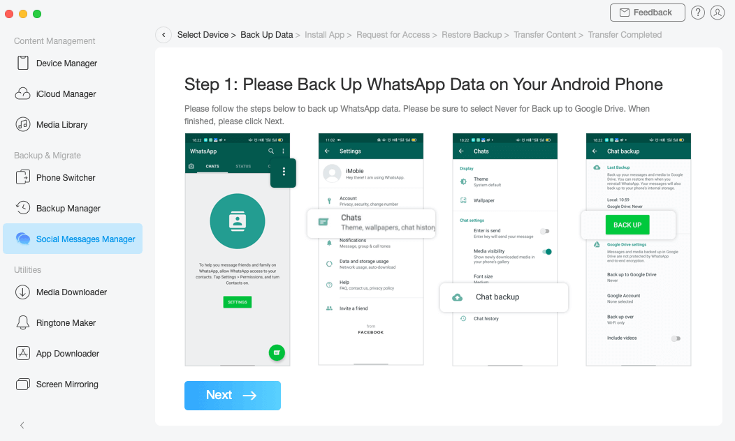 Transfer WhatsApp Messages from Android to iPhone - iMobie