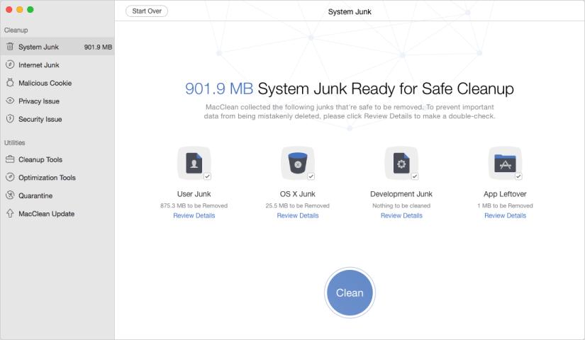 Comment nettoyer les fichiers indésirables Internet et plus sur Mac avec MacClean
