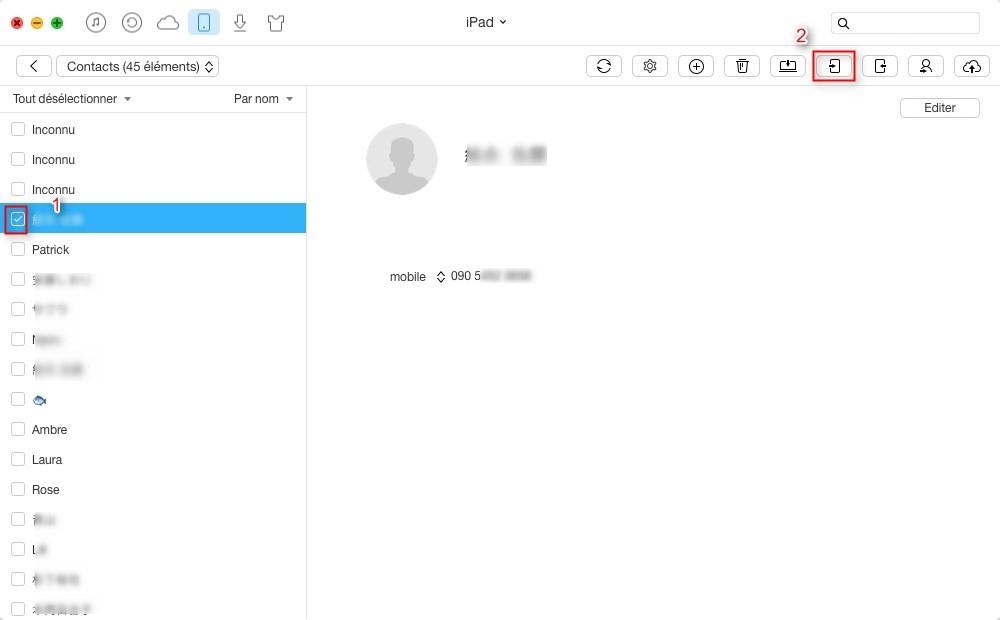3 façons de transférer les contacts iPad vers iPad
