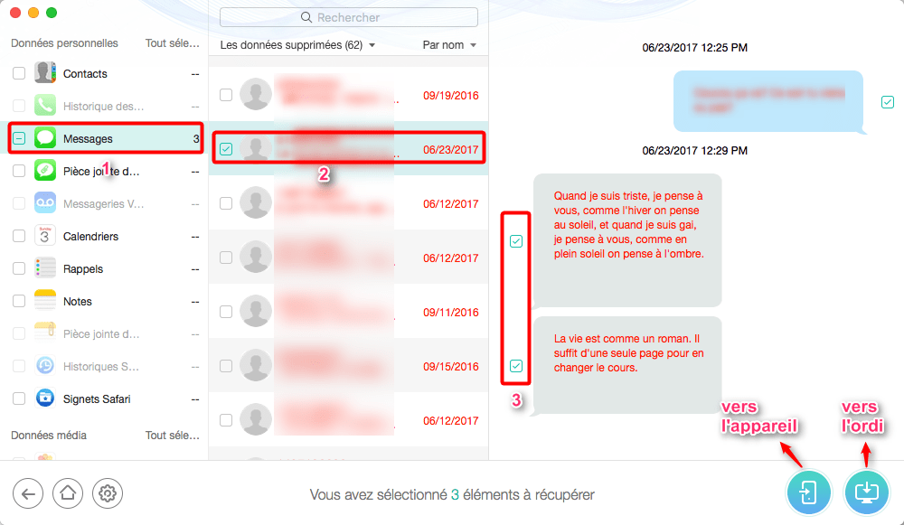 Astuce Rcuprer messagesSMS du numro bloqu sur