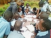 Student bible study group in a Kenyan school