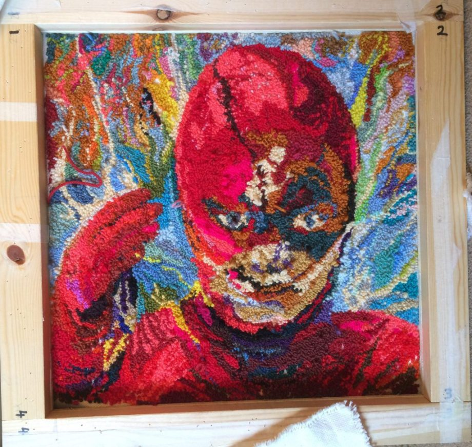 The Flash punch rug
