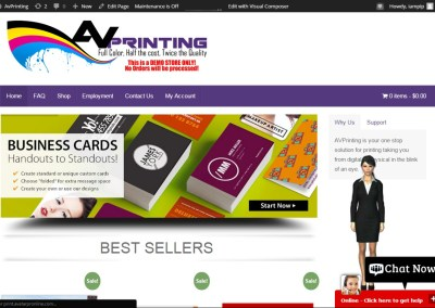 AV Printing Demo Website
