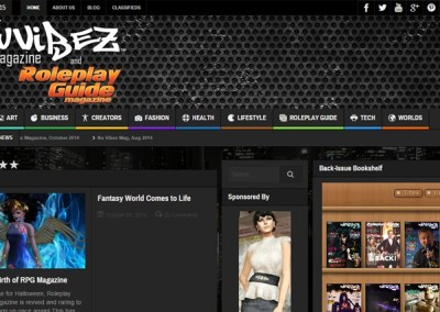 Nu Vibez and Roleplay Guide Magazine Website