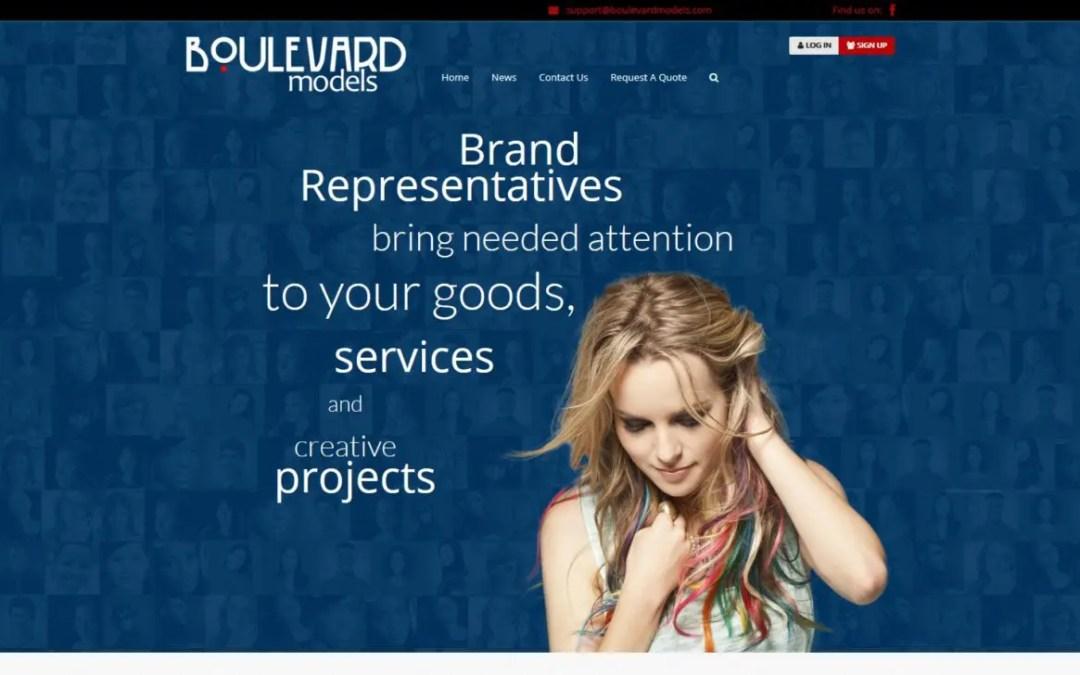 Boulevard Modeling Agency Website