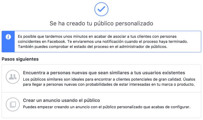 anuncio de facebook para una audiencia determinada