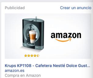 Remarketing de Amazon en Facebook