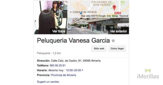 Ejemplo de Ficha gratis en google
