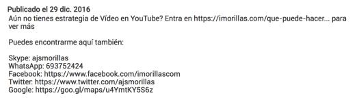 Incluye enlaces profundos desde youtube