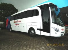 Trijaya Union model jetbus, milik Lion Group