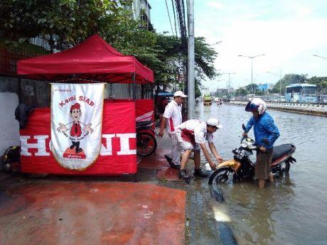 Imotorium - Kegiatan AHASS WMS April 2016 - Posko Darurat Banjir