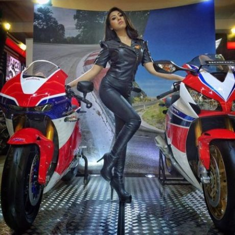 Elizabeth Angela Honda Big Bike