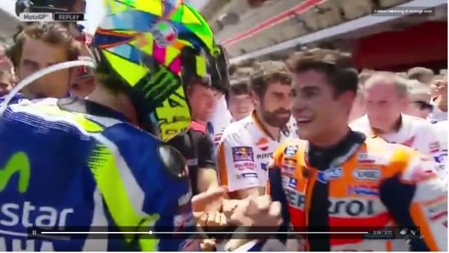 Catalunya Motogp 2016 rossi vs marc damai