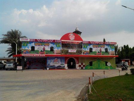 Bale Santai Honda Yang didirkan Wahana Honda di SPBU Jayanti (2)