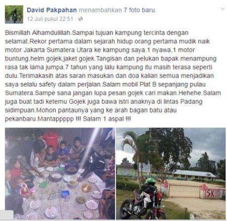 Gojek mudik Jakarta medan 1