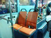 sisi depan juga ada seat prioritas yang menghadap ke belakang