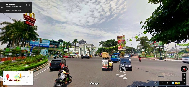 Perempatan Masjid Raya Kota Medan