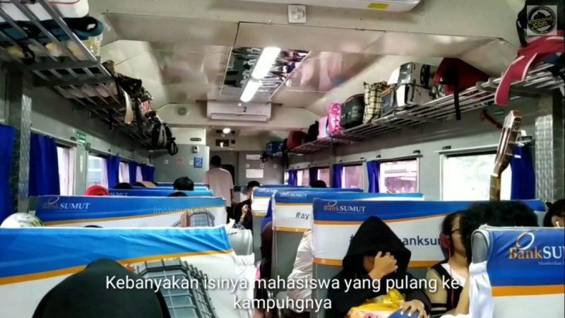 suasana kereta api siantar ekspres