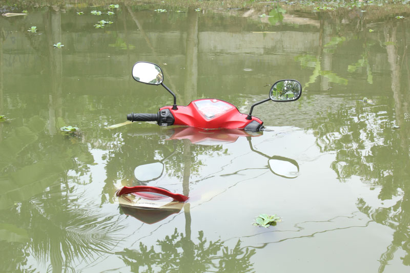 motor bekas banjir