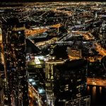Melbourne cityscape by night