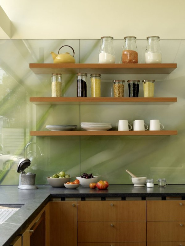 Prateleiras na Cozinha  Imveis Cultura Mix