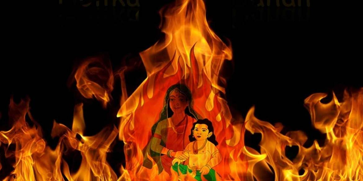 Holika Dahan is related to the story of Prahlad, Hiranyakashipu and Holika.