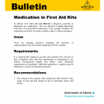 Medication in First Aid Kits PDF