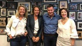 Foto Jet de Ranitz, Helma van der Hoorn, Mildred Hofkes en Glenn van der Burg