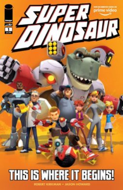 LCSD 2019 SUPER DINOSAUR #1 SPECIAL EDITIONIMAGE COMICS(W) Robert Kirkman (A/CA) Jason HowardRobert Kirkman and Jason Howard's SUPER DINOSAUR follows 10-year-old genius Derek Dynamo and his T-Rex best friend Super Dinosaur as they protect the planet against evil. This LCSD exclusive features characters from the animated show debuting on Amazon Prime Video October 6, and reprints SUPER DINOSAUR #1 and SUPER DINOSAUR ORIGIN SPECIAL.